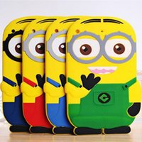 For Apple iPhone minions case - 3D Despicable Me Cute Minions Minion Soft Silicon Cartoon case cover for ipad mini two big eye M2 yellow man doll