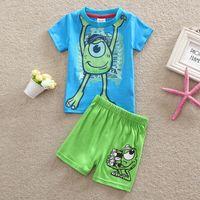 children clothings - 2015 summer new style babys boys clothings Childrens Cotton suit children s outfits sets cartoon T shirt short pants