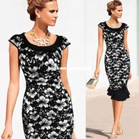 Cheap 1511 New ariival vestidos de fiesta Button Tunic Bandage Elegant high quality Mermaid Midi pin up Dress 2015 Summer OL Work Dress XXL