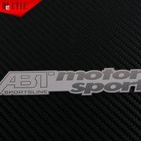 acura custom - xterior Accessories Emblems ETIE VW ABT Motor Sport Metal Sticker Custom Steering Wheel Stainless Steel Body Car Emblem Auto Decals