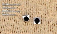 black stainless steel studs - Fashion Ear Studs Black Stone Silver Steel Heart Star Flower Different Shapes and Size Stainless Steel Ear Studs Earrings Gift Jewerly