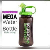 gallon water bottle - Herbalife Nutrition Mega Half Gallon oz Shake Sports Water Bottle Tritan Plastic Black with Green Lid Herbalife Fit Club