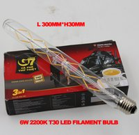 Wholesale New arrvial E27 E26 W T30 Filament bulb K CCT Decorative Long Lasting Vintage Retro Edison LED Bulb Light V v