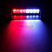 dash lights - 2014 Hot LED Red Blue Police Car Strobe Flash Light Dash Emergency Warning Lamp