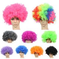 Cheap as picture show clown wig Best Long Boy Football Fan Wig
