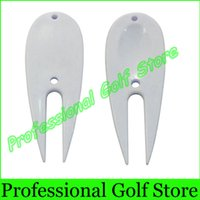 Wholesale Plastic Golf Brush Divot Tools Golf Pitch Fork White Divots Tool