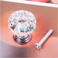 Wholesale 25mm Crystal Knobs Door Handle Pull Cabinet Drawer Dresser Cupboard Wardrobe