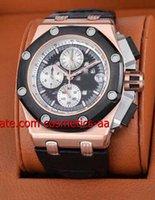 Wholesale Luxury Mens Watch black Royal Oak Offshore Rubens Barrichello III RO OO D002CR Wristwatch
