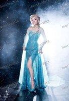 Sexy congelada Preços-FROZEN adulto vestido Elsa Elsa puro manual cosplay vestido vestido jogo de papel de temperamento vestido sexy