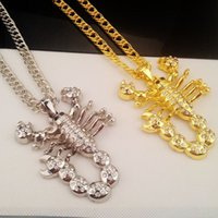 Cheap 2014 new personality scorpion necklace hip-hop rap hip hop nightclub singer tide items for men and women