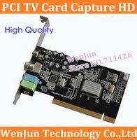 al por mayor tarjeta de tv analógica-CAPTURA alta calidad TV PCI tarjeta de tarjeta de TV de alta definición en tiempo real de compresión de TV que recibe la tarjeta de señal analógica de cable y señal AV para la función $ 18Nadie t