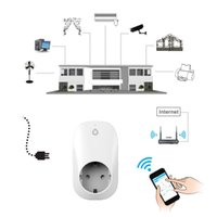 Wholesale New Portable Free APP Wi Fi Home Offices Automation Smart Wireless Power wifi Plug EU for Android and IOS Socket