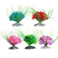 Wholesale New Fish tank Aquarium decoration accessories Artificial Water Green Plastic Plant Grass For Fish Tank
