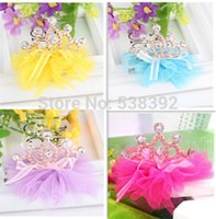 angels crown - Cute Novelty High Quality Girls Angel Resin Diamond Crown Princess Children Accessories Hair Accessories Hair Clip FS021