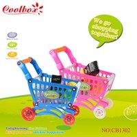 Wholesale Mini Supermarket Shopping Handcart Holder Baby Toy Mini children supermarket shopping cart toy New