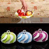 candy dish - L109Portable Collapsible Folding Peacock Fruit Draining Plate Candy Dish Home Tool