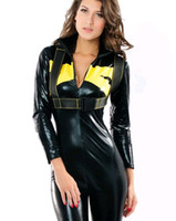 Wholesale sets women PU motorcycle suits leather Two piece overalls Siamese car racing suits