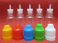 Wholesale PROMOTION ML ML ML ML ML PET Child Proof Bottles High Quality Plastic eliquid Bottle With Long Thin Tip Free DHL