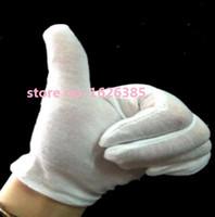 Wholesale M good Cotton white gloves ceremonial gloves Driver Jewelry Full cotton gloves suck hands sweat anti fingerprint
