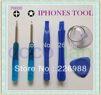 Wholesale 500set HOT Opening Pry Tool ScrewdriverS Repair Kit Set For iPhone G S GS iPhone Touch