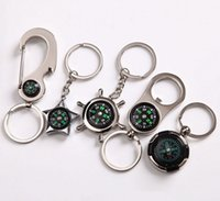 Wholesale Alloy Nautical helm compass keychain bottle opener Fashion Key Chains Charms Keychains