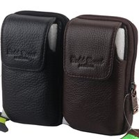 Wholesale Men small free soldier waist pack mobile phone genuine leather belt bag fashion tactical fashion pouch brand black and brown MZ3181