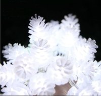 Wholesale Free DHL M Multi Color LED Strings Fairy White Pine Cones LED Light FT Xmas Wedding Party Holiday Decoration Twinkle Ligting