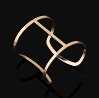 beautiful metal bracelet - Simple Bangle Bracelet For Women Men Alloy Metal Plated Gold Silver Open Bangles Bracelets Punk Jewelry Gift Fashion High Quality Beautiful