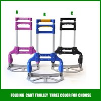 hand trolley - Black Purple Blue color Portable Lage cart folding cart trolley Hand Truck Shopping Tools Women s Assistant