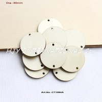 Wholesale holes hanging unfinished round circle wooden disks supplies cut outs wood crafts quot CT1084A