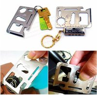Wholesale 2015 Multi Tools in Multi Tool Outdoor Hunting Survival Camping Pocket Military Credit Card Knife