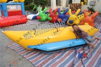 aqua inflatable boats - new pvc inflatable banana boat inflatable beach float boat Aqua Water Games Inflatable Fly Fishing Boats