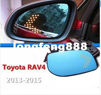 Wholesale Boutique LED Turn Signal Large Blue Mirror Anti Glare Rearview Mirror accessories Fit For Toyota RAV4