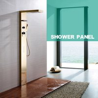 Wholesale New Chuveiro Wall Mounted Shower Panel Faucet Bathroom Set Rainfall Waterfall Body Massage Hand Shower Cold Hot Water Control order lt no tr