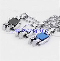 al por mayor brazos de collar-Collar del robot de acero inoxidable con brazos móviles Piernas Mini colgantes giratorios Disponible en color - Negro, plata, azul