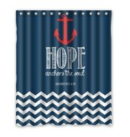 bathroom decor themes - Hope Theme Anchor Printed custom Shower Curtain Bathroom decor x72 quot x72 quot x72 quot x72 quot