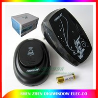 Wholesale Digital LED M Range Wireless Doorbell Remote Control Home Door Bell Cord Song Music Battery combo