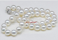 Wholesale Fast Real Fine Pearl Jewelry AAAAA inches mm genuine south sea white pearls necklace K