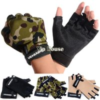 fitness wear training wear - Anti Skidding Wear Resistance Sport Cycling Fitness GYM Half Finger Weightlifting Gloves Exercise Training Gloves SV003856