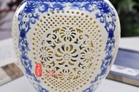 Wholesale Jingdezhen Ceramic archaize chinese high grade tusk porcelain vase Hand carved paintings