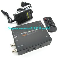Wholesale SD HD G SDI to HDIM VGA CVBS Signal Converter Built in Image Processor Smart IC Remote Control MV245