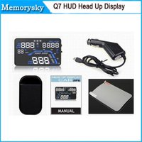 alarm system design - Q7 HUD Inch Multi color Design Screen Display Car Compass GPS Head Up Display Security System Vehicle Over Speed Alarm by DHL