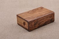 Wholesale Cigarette Case Huanghua Pear Wood Rosewood Hollowed Out Cigarette Case Fine Gifts Cigarettes