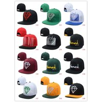 custom snapback - Best Hip Hop Cap With Diamond Logo Custom Hat Embroidery Cheap Snapback Hats Can Be Quickly Adjusted