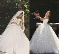 beautiful wedding sayings - New Beautiful Said Mhamad Wedding Dresses Flowers Sweetheart Corset Backless Puffy Tulle Lace Spring Church Garden Wedding Bridal Gowns