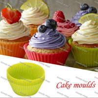 Wholesale New Arrival cm Silica gel Liners baking mold silicone muffin cup baking cups cake cups cupcake