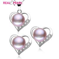Vente en gros-REAL PEARL 925 bijoux en argent sterling perle ensemble nuptiale bijoux de mariage ensemble 4 boucles d'oreilles en cristal de couleur ensemble avec perle de culture