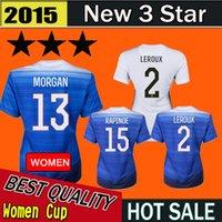 girls white shirts - DHL Freeshipping USA Women Soccer Jersey MORGAN USA Women Jersey LEROUX Girl MORGAN SOLO Female Shirt Away Blue Home White