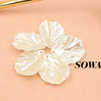 pearl jewelry making - Sale mm Ivory Color ABS Resin Imitation Pearls Sewing Effect D Maple Leaf Designed Beads For Making Jewelry