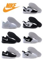 tenis - Nike Roshe Run Shoes Womens Mens Running Shoe Discount Fashion Racing Tenis Oreo Classic Black White London Olympics Drop Shipping
